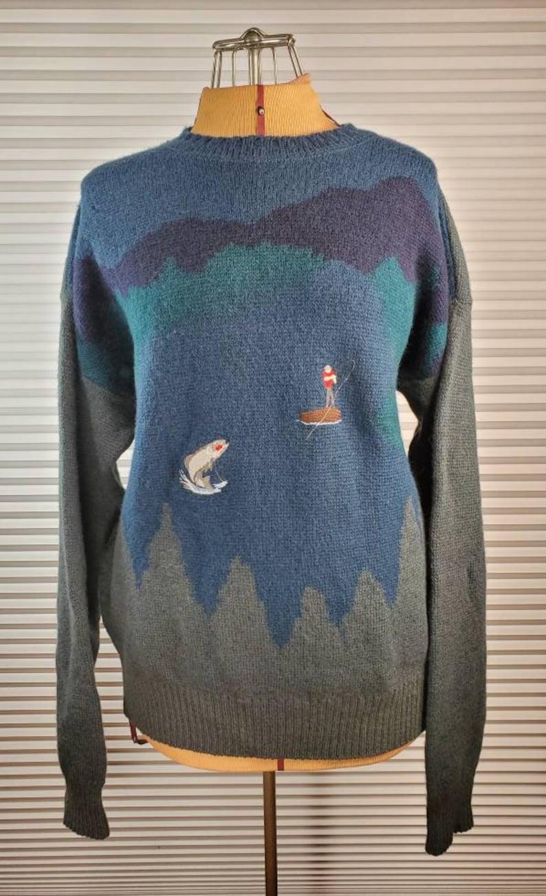 MEDIUM RARE 1960/'s Vintage Pendleton Fishing Sweater Epic Piece of American History.