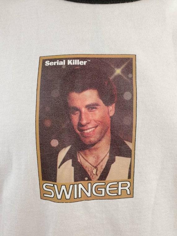 90's John Travolta Swinger Serial Killer Tag T-Shi