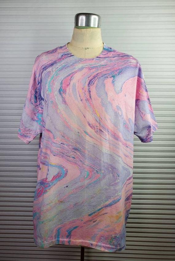 1990's Unique Patterned Tie Dye LARGE Shirt.