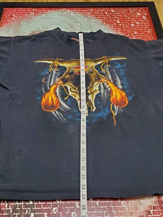 Harley Davidson Single Stitch Fiery Tshirt.