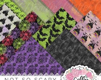Dark Pocus NOT SEAMLESS Inspired Digital Paper Pack Foral Fashion Art Illustration Planner Stickers Digital Commercial Licens
