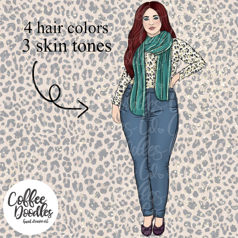 Bold City Chic Collection Inspired Inspired Clipart Fashion Girl Clip Art Illustration Planner Stickers Digital Artwork Planner