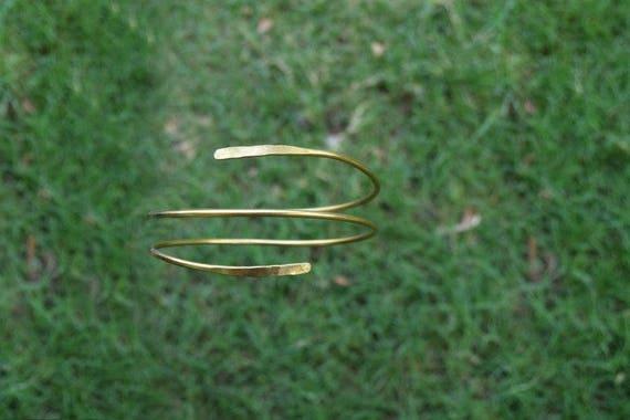 Hammered Arm cuff Armlet Gypsy Armband Upper Arm Cuff Brass Armlet Armband Arm Cuff Arm Bracelet Handmade Armlet