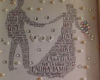 Wedding word art