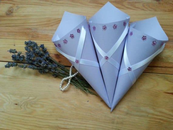 Wedding purple confetti cones wedding rose petal confetti etsy image 0 mightylinksfo