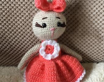 Amigurumi Bunny B Crocheted toy CE tested