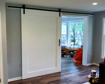 Shaker Style Barn Door, Interior Sliding Door, Modern Style Barn Door