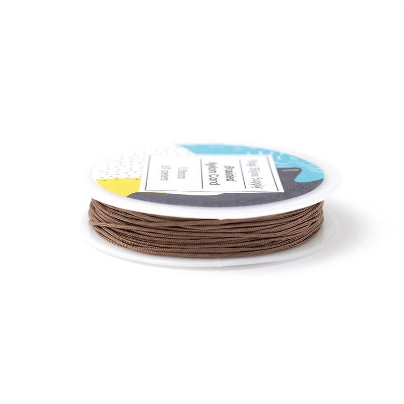 0.8mm White Braided 10 Meters Nylon Cord Jewelry Cord