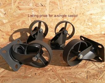 Industrial furniture swivel metal castors casters caster wheel coffee table wheels vintage 8,9 cm graphite
