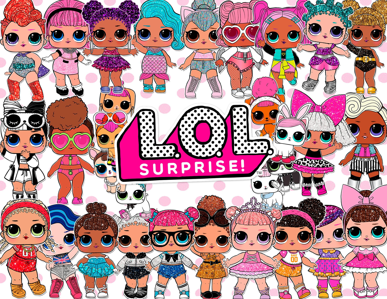 100 Lol Surprise Dolls ClipArt Digital PNG image picture