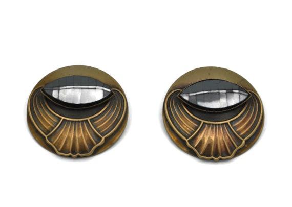 Ermani Bulatti Large 1980's Statement Earrings, A… - image 4