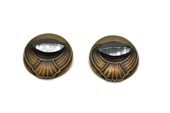 Ermani Bulatti Large 1980's Statement Earrings, A… - image 5