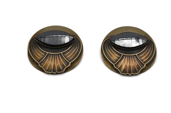 Ermani Bulatti Large 1980's Statement Earrings, A… - image 1