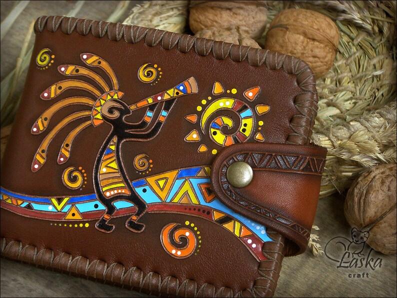 3f48875a23367 Kokopelliy portfel etniczne kobiece kobieta portfel | Etsy