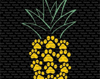 Pineapple Silhouette Etsy