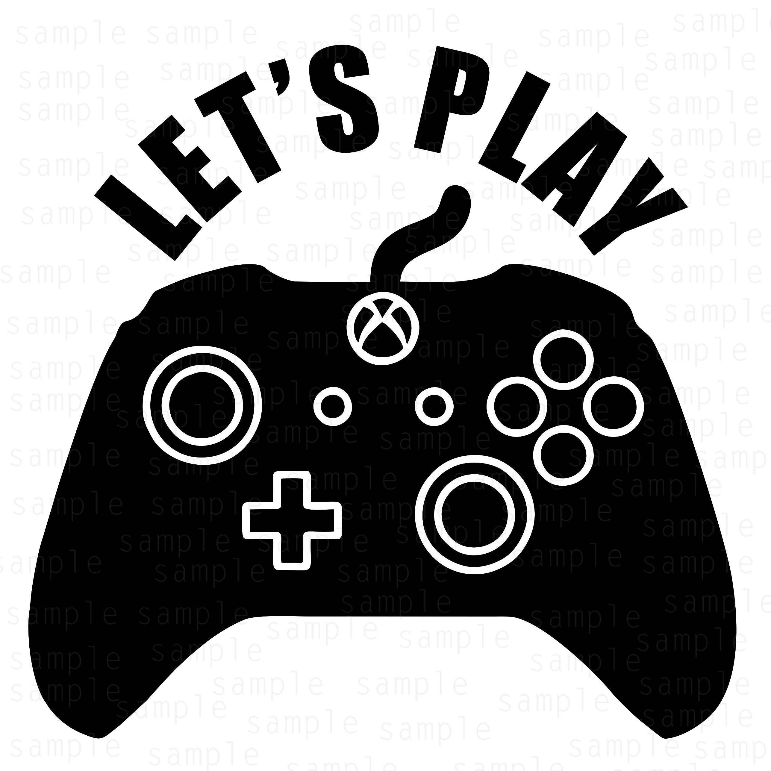 Lets play Xbox Controller svg xbox svg controller svg EtsyXbox Controller Silhouette