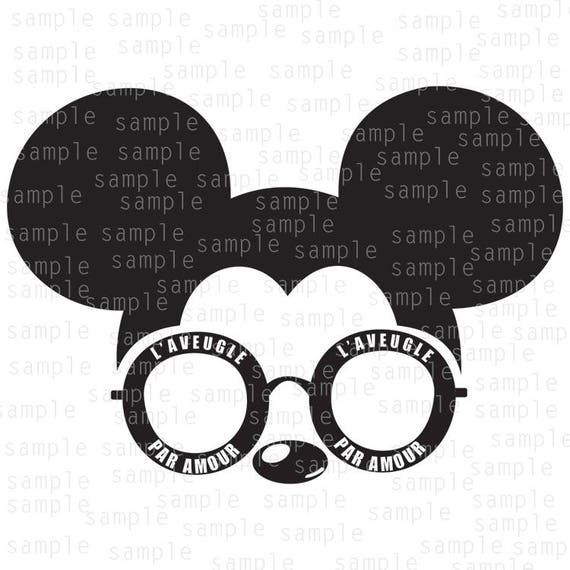 Inspired Mickey Mouse Sunglasses Gucci SVG JPG PNG | Etsy