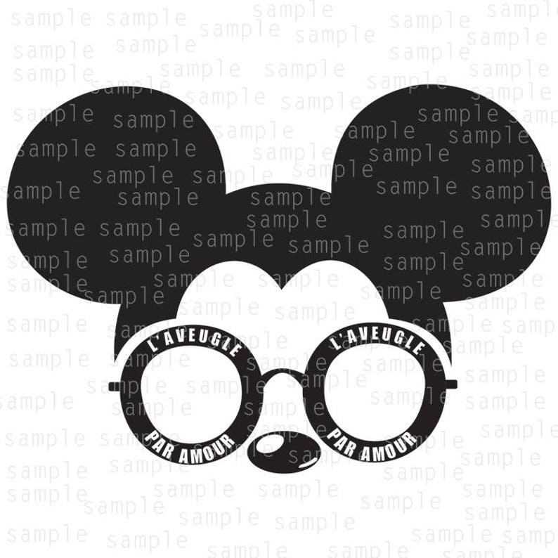 4cd90deeda Inspired Mickey Mouse Sunglasses Gucci SVG JPG PNG   Etsy