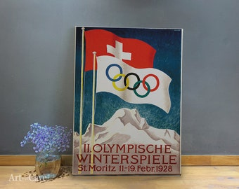 Moritz Switzerland Olympic Winter Games Vintage Poster Repro FREE S//H 1928 St