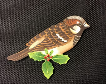 Chipping Sparrow Ornament