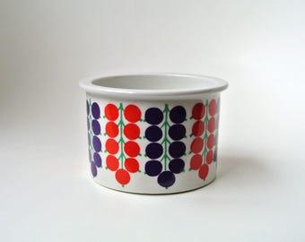 POMONA Arabia Finland - jam pot jar currants berries - Raija Uosikkinen - Scandinavian design - vintage retro