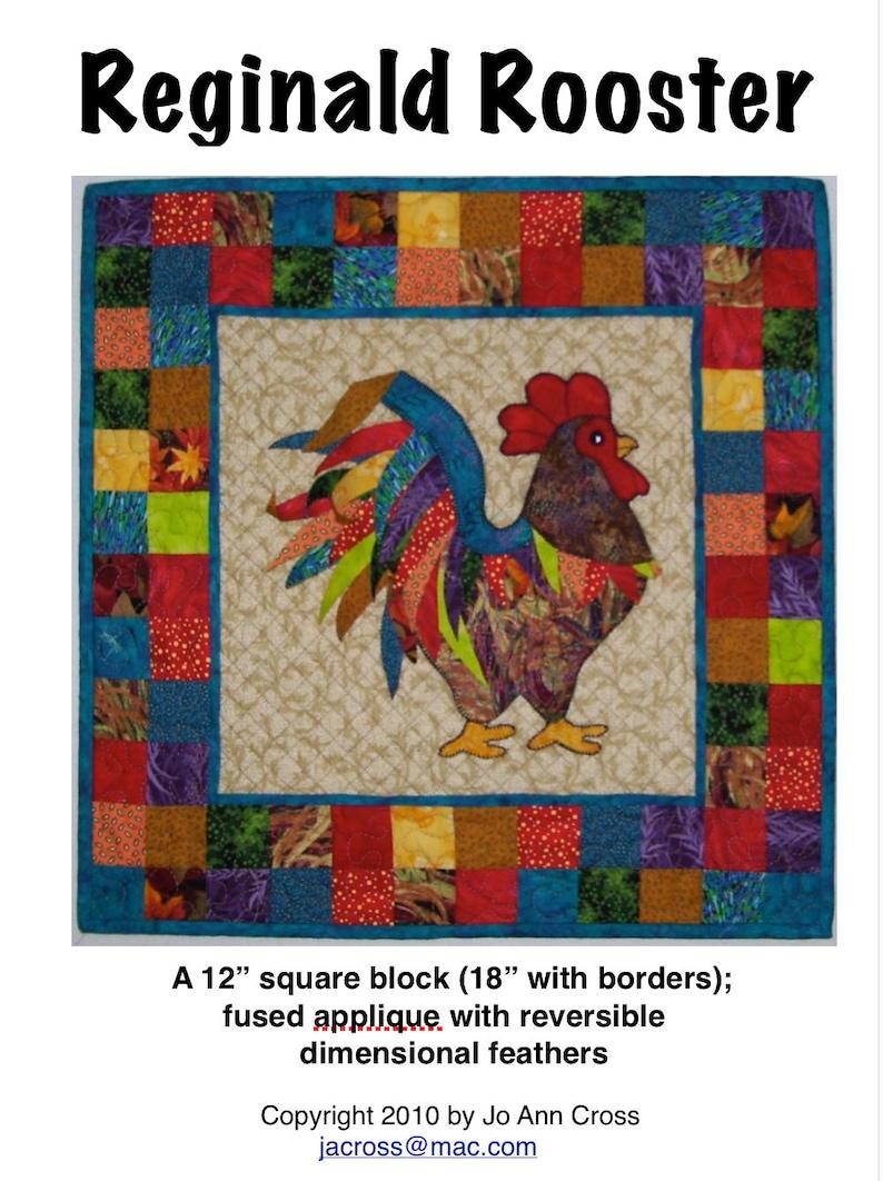 Reginald Rooster quilt pattern image 0
