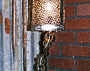 Industrial Gears and Links Lamp