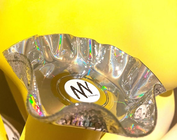 CD trinket bowl, set of 3 - unusual upcycled gift for eco concious music lovers