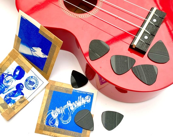 Vinyl Record Plectrums - Set Of 3, guitar ukulele picks, great gift for musicians and music lovers