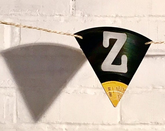 Upcycled Vinyl Record Bunting - Nothing New by Ruthie Ru