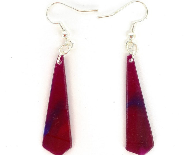 Unique Purple Earrings, Upcycled Vinyl Record Jewellery - Nothing New by Ruthie Ru