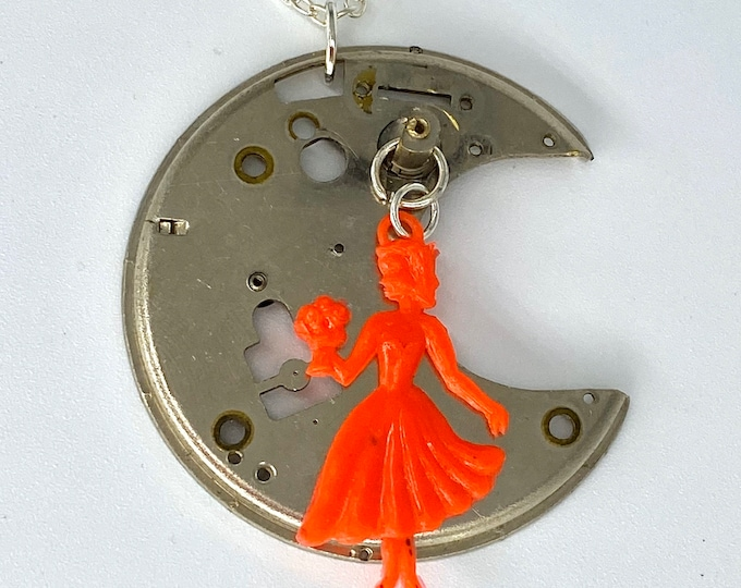 Upcycled Watch Part Necklace - Nothing New by Ruthie Ru