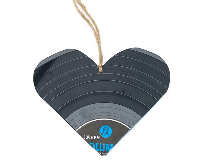 Upcycled Vinyl Record Heart - Nothing New by Ruthie Ru