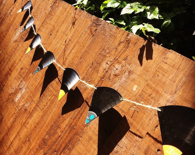 Upcycled Vinyl Record Bunting