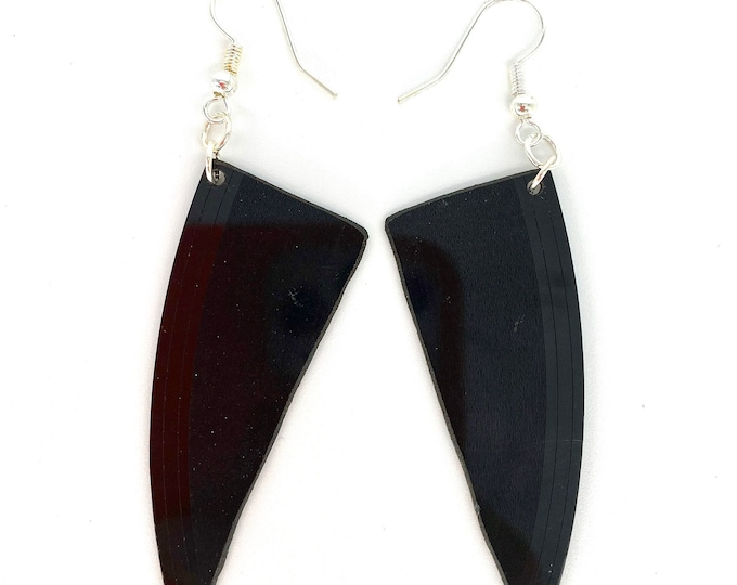 Upcycled Vinyl Record Earrings - Nothing New by Ruthie Ru