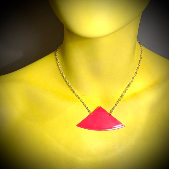 Upcycled Vinyl Record Necklace - Nothing New by Ruthie Ru