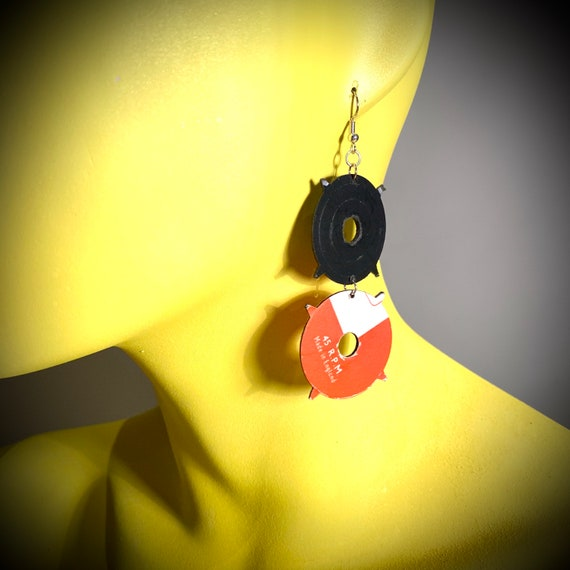 Upcycled Vinyl Record Jewellery - Nothing New by Ruthie Ru
