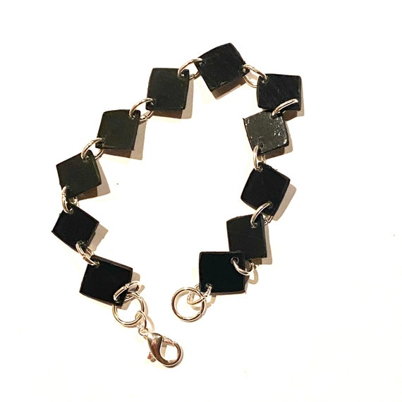 Upcycled Vinyl Record Bracelet - Nothing New by Ruthie Ru