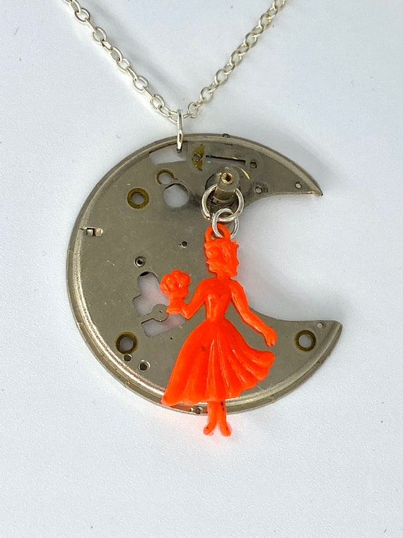 Upcycled Watch Part Necklace