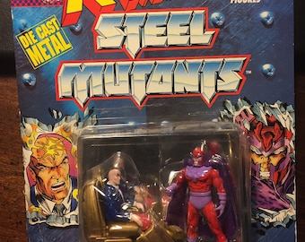 Two Marvel Comics X-Men Steel Mutant Figures