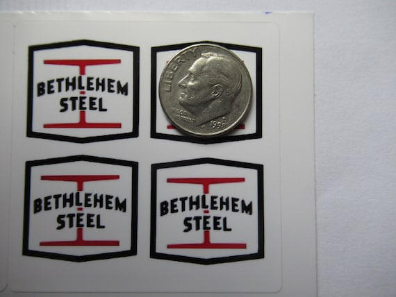 "Bethlehem Steel CO 1 Hard hat Lunch Box Train Sticker 2/"" x 2/"" sign Johnstown PA"