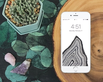 Black & White Geode Wallpaper