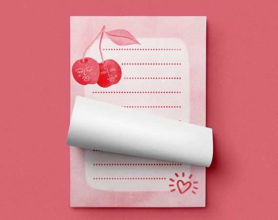 Cherry Lovers Memo Pad