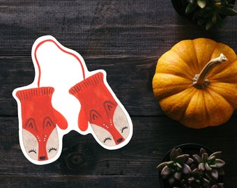 Foxy Mittens Watercolor Sticker