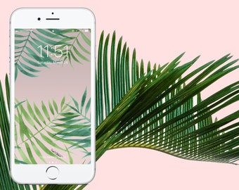 Palms on Pink Wallpaper
