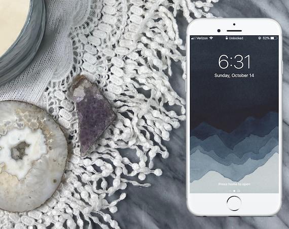 Layered Mountains Wallpaper - Fog