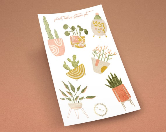 Plant Babies Vinyl Sticker Set