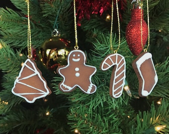 Gingerbread Cookie Ornament Set - 4pcs