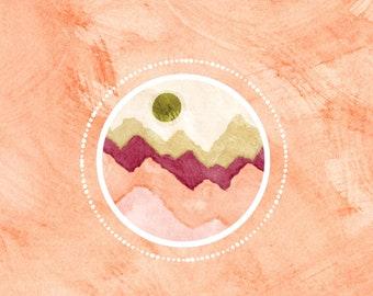 Sorbet Mountains Vinyl Sticker