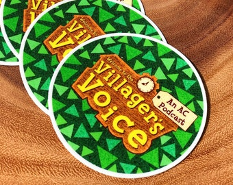 The Villager's Voice Podcast Logo Vinyl Sticker